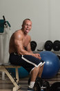 Shirtless fit man is fooling around on camera Stock Image