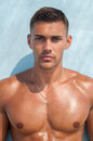 Shirtless male model Royalty Free Stock Photo