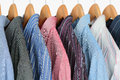 Shirts on hangers Royalty Free Stock Photo