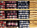 Shirts neatly on the shelf Royalty Free Stock Images