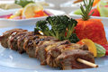 Shish kebab meat Stock Photos
