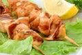 Shish kebab from a salmon Royalty Free Stock Photo