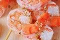 Shish Kebab from Shrimps Royalty Free Stock Photo