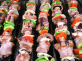 Shish Kebabs on the Grill Stock Image
