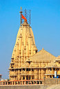 Shiva somnath temple famous of lord of moon Stock Photo