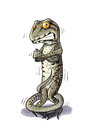 Shiver lizard cold digital illustration of a Royalty Free Stock Photography
