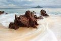 Shoal bay australia water flow around rocks at Stock Photos