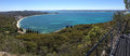 Shoal bay scenic views from mt tomaree australia panorama of port stephens nsw is a popular holiday destination on the Royalty Free Stock Photos