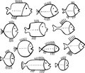 Shoal of fishes Royalty Free Stock Photos