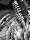 Shock absorber motorcycle close up of Royalty Free Stock Image