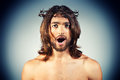 Shock religion portrait of jesus christ Stock Images