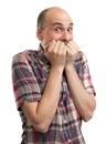 Shocked bald man Royalty Free Stock Photo