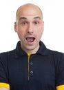 Shocked funny Bald dude Royalty Free Stock Photo
