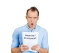 Shocked man, financial problems Royalty Free Stock Photo