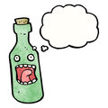 Shocked wine bottle cartoon Royalty Free Stock Images