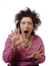 Shocked woman Stock Photography