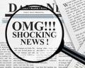 Shocking news headline Royalty Free Stock Photo