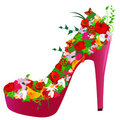 Shoe from flowers Royalty Free Stock Images