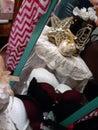 Shoe girls golden dreams inspire Royalty Free Stock Photo