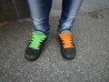 Shoe lashes Royalty Free Stock Photo