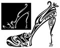 Shoe outline Stock Photo