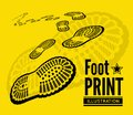 Shoe print Royalty Free Stock Photo
