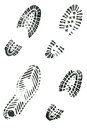 Shoe prints Royalty Free Stock Photos