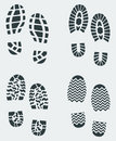 Shoe Prints Vector 2 Royalty Free Stock Photos