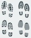 Shoe Prints Vector 2 Royalty Free Stock Photo
