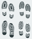 Shoe Prints Vector 3 Royalty Free Stock Photo