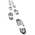 Shoe Prints Walking Away