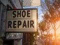 Shoe repair sign Royalty Free Stock Photo