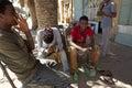 Shoe shiners ethiopia shine workers in Stock Photo