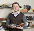 Shoe shop Stock Photography