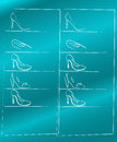Shoe shop illustration Royalty Free Stock Image