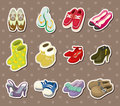 Shoe stickers Royalty Free Stock Images