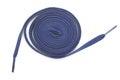 Shoelace blue fashion on a white background Stock Images