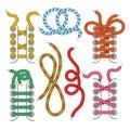 Shoelace icons set Royalty Free Stock Photo