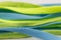 Shoelace sports isolated clothing accessories light green color blue white Royalty Free Stock Photos