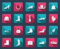Shoes and accessories icons fashion vector flat Stock Image