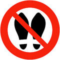 Shoes Banned Royalty Free Stock Image