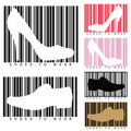 Shoes and barcodes Royalty Free Stock Image