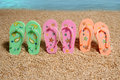 Shoes on a beach. Stock Photography