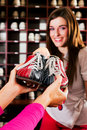 Shoes for bowling Royalty Free Stock Photo
