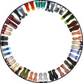 Shoes circle frame Royalty Free Stock Photography
