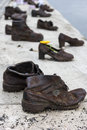 Shoes on the Danube Bank in Budapest, Hungary Royalty Free Stock Photo