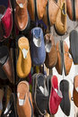 Shoes hanging outside a shop in Marrakech, Stock Photography