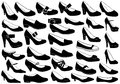 Shoes illustration set isolated on white Royalty Free Stock Images