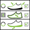 Shoes illustration specification of on a white background Royalty Free Stock Photography