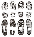 Shoes prints Royalty Free Stock Photography